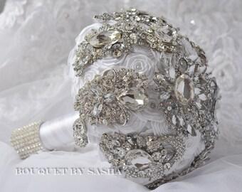 Bridal Bouquet, Gold bouquet, Crystal Bouquet, Brooch bouquet, Gold Wedding, Bridesmaids bouquet, Gold brooch bouquet, Wedding Bouquet