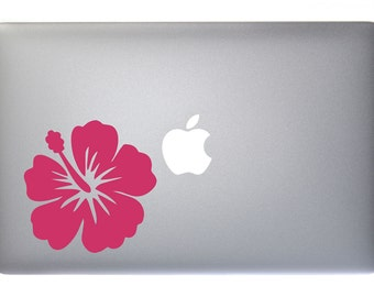 Hibiscus Tropical Flower - Vinyl Decal for Macbook, Laptop, Wall, Window