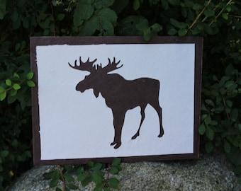 Moose Silhouette Wall Art