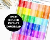 TODAY Header Printable Planner Stickers // Erin Condren Life Planner / Kikki / Plum Paper Planner / Midori Insert / Planner Insert 00132