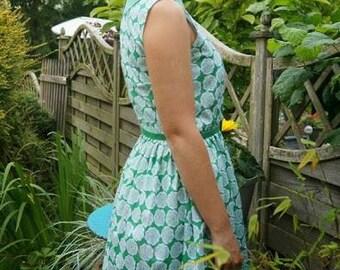 Gingham collar dress
