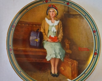 "Vintage 1985 Knowles Plate "" A Young Girl's Dream"" by Norman Rockwell"