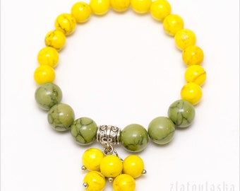 Yellow Green Bracelet - Bunch Bracelet - Woman's Bracelet - Summer Bracelet - Summer Jewelry - Gift For Her - Gift For Daughter - Gift Idea