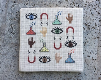 Science - Modern cross stitch pattern PDF - Instant download