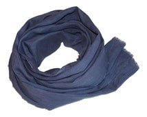 Dark Lilac-Gray Hand-Dyed Linen Scarf / Women's Linen Scarf / Women's Gray Scarf / Large Linen Scarf / Women's Winter Scarf / Linen Scarf