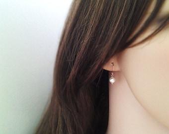 Silver / gold / rose gold - Dangle pearl earrings