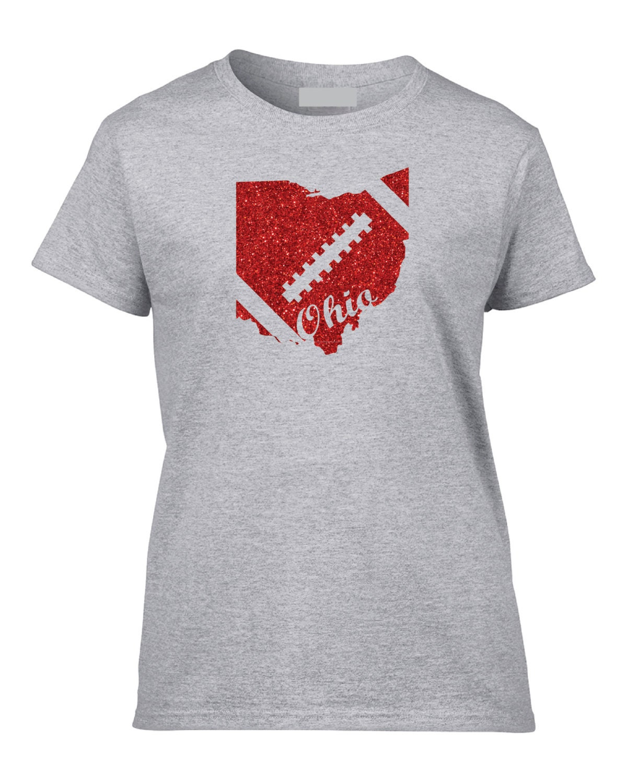 Ohio state buckeyes glitter t shirt by glittergalaxyts on etsy for Ohio state t shirts