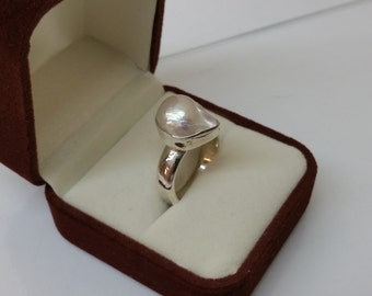 Ring Silver 925 Pearl vintage silver ring SR752