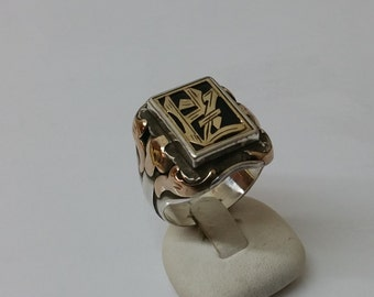Signet Ring 900 333 gold Monogram HZ / ZH SR125