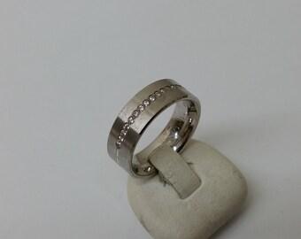 Ring Silver 925 sparkling Crystal stones SR671