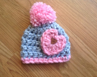 Baby Hat, Hat for baby, Hat for newborn,Crocheted Hat Photo Prop, Shower Gift