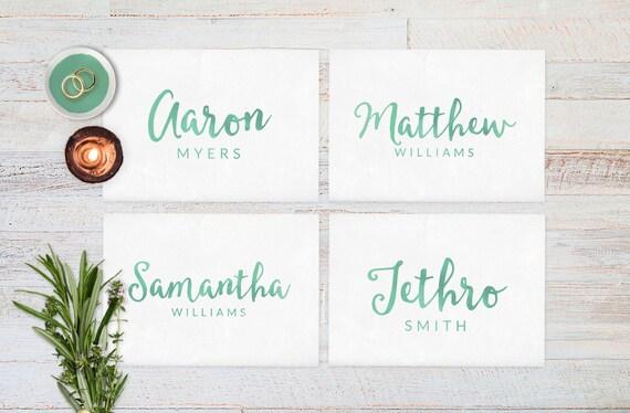 Wedding Place Cards Wedding Reception Decor By ThePrintableShopcom