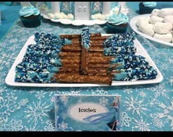 Frozen party food/candy buffet labels-we can customize any theme!