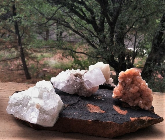YOUR CHOICE, ZEOLITES, Apophyllite, Stilbite, on matrix.  Meditation stones, Metaphysical, Healing Crystals, Sedona and Reiki charged,