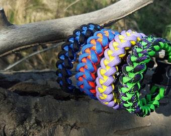 Shark Jaw Bone Weave Paracord Bracelet Survival Bracelet