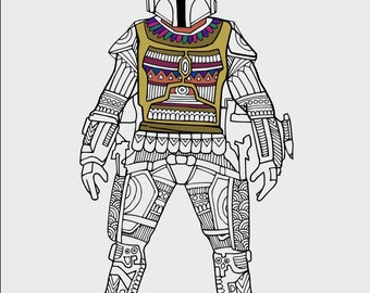 the ultimate star wars coloring book star wars coloring - Boba Fett Coloring Pages Printable