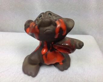 1970s DAM Ceramic Troll with Paint very Rare
