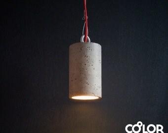 Industrial concrete pendant light