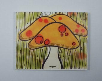 Mushrooms Art Print; Modern Art Print // Bold Colors // Spray Paint Art // Pop Art // Graphic Art // Minimalist Art