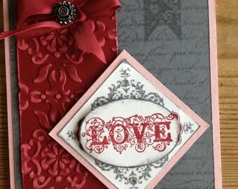 Handmade Valentine's/Anniversary Card