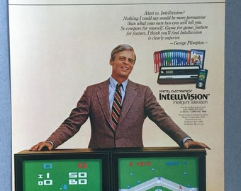 1981 Intellivision Video Games Print Ad