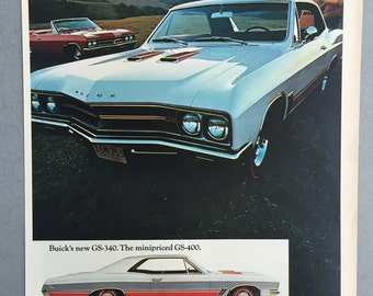 1967 GM Buick GS-340 Print Ad