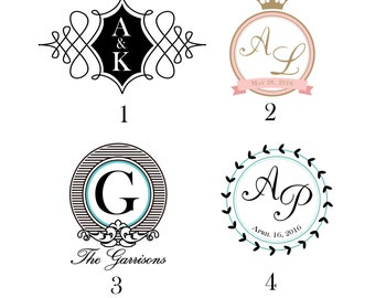 Custom Digital Wedding Logo // Name Logo // Monogram Logo // Wedding Design // Modern // Vintage // Wedding Logo // Wedding Emblem