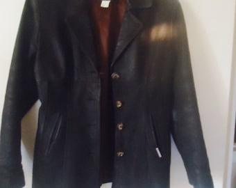 Exceptional leather jacket ,Men leather jacket,Leather jacket vintage  ,size M, leather brown jacket