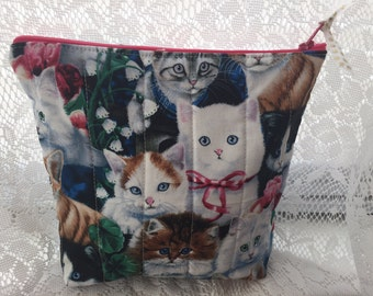 Cute Kitten Zipper Bag