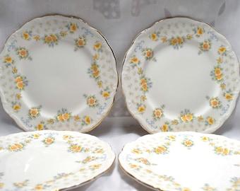 Royal Albert Bronte Bone China Tea Plates 1981.