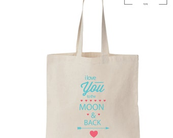 Moon and Back Tote - Love - Gift