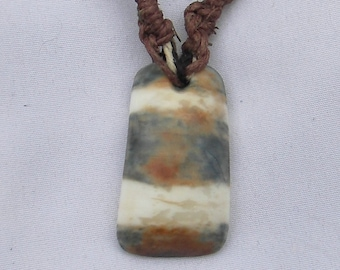 Fossilized Walrus Tusk Necklace
