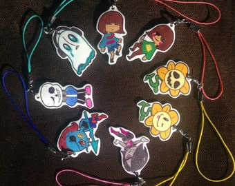 """Under-tale 1.5""""Keychain/Cellphone Charms"""
