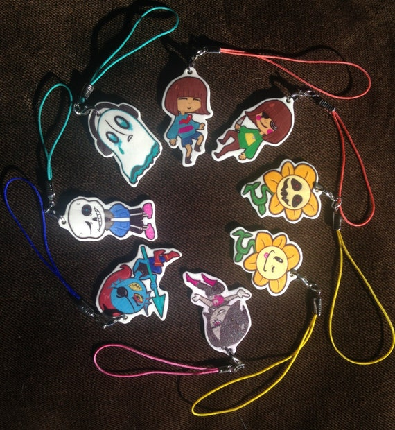 "Under-tale 1.5""Keychain/Cellphone Charms"