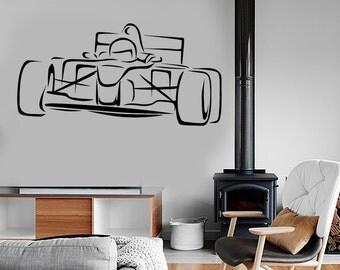 Wall Vinyl Decal Art Racing Karting Superkart Cool Vechicle Amazing Decor 1330dz