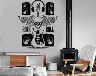 Wall Vinyl Music Rock Guitar Speakers Guaranteed Quality Decal Mural Art 1527dz