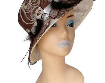 Serina Brown Designer Hat - UH175