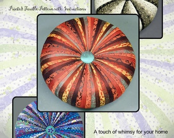 Tuffet Source Round Pattern with fusible interfacing