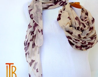 Beige Summer Scarf / Spring Scarf / Autumn Scarf / Gift For Her / Fashion Accessories / Mothers Day Gift