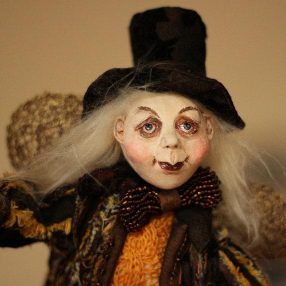 Halloween OOAK  doll, Halloween doll, Halloween gift, Halloween decor, Halloween home decoration doll, housewarming  gift, art doll, dolls