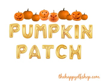 "16"" ""Pumpkin Patch"" balloon/banner. Halloween balloons. Pumpkin balloon. Witch decor. Halloween party supplies. Spooky witch. Hocus pocus"