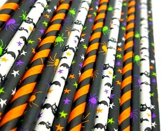 Batty Straw Variety Mix. Bat straws. halloween straws. lollipop sticks. halloween party decor. Halloween party supplies. straws