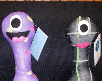Custom Handmade 5-legged Sock Monster