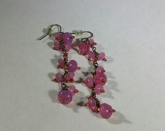 Vintage Funky Pink Earrings