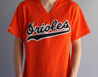 Vintage Baltimore Orioles MLB Baseball Jersey - Genuine  Merchandise By Majestic - Made In USA - Large