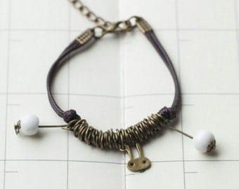 Beaded Braided Bracelet,Friends Bracelet,Rabbit B-01