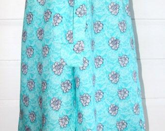 Lace Print Linen Culottes
