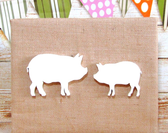 Wooden Wall Animals,Farm Nursery Decor,Pigs, Wall Art, Wood Wall Decor, Unique Wall Decor, Chldren Room Decor