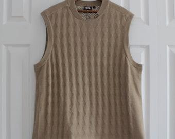 Spring discount! beige sleeveless tank top, Oakley, man size XL