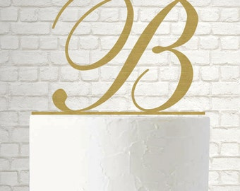 Monogram Cake Topper, Gold Monogram Cake Topper, Mr and Mrs Last Name, Personalized Name Cake Topper, Gold cake Topper A142